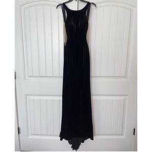 Black velvet prom dress